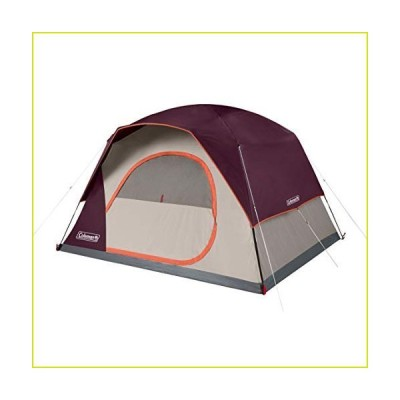 Coleman Skydome 6 Person WeatherTec Easy Assembly Outdoor Family Camping Hiking Dome Tent, Blackberry