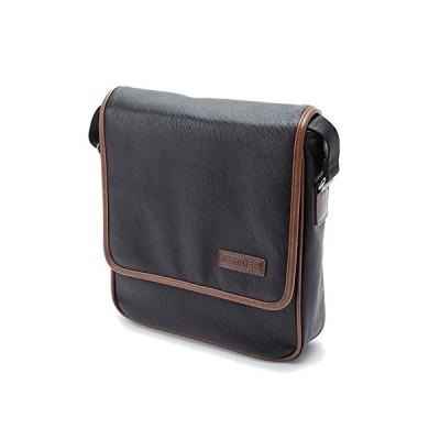 ショルダーバッグ メンズ レディース 斜めがけ 軽量 軽い ソフト カジュアル 縦型 B5 通勤 旅行 横幅26cm  (黒) 平野鞄