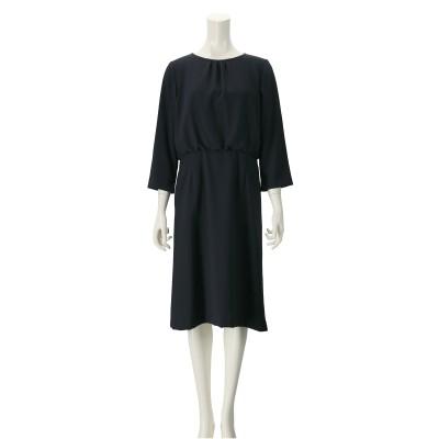 東京ソワール サイドスリット付きトリックドレス