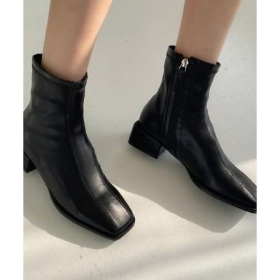 ブーツ HALEY PESCA/スクエアトゥショートブーツ