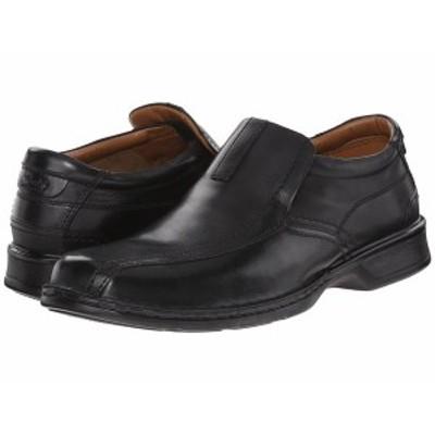 クラークス メンズ スリッポン・ローファー シューズ Escalade Step Black Leather
