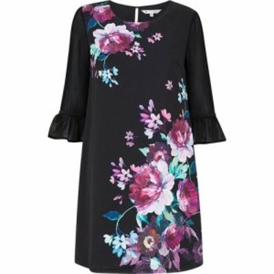 ユミ Yumi レディース ワンピース チュニックドレス ワンピース・ドレス Black Peony Tunic Dress Black