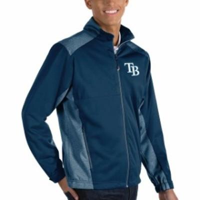 Antigua アンティグア アウターウェア ジャケット/アウター Antigua Tampa Bay Rays Navy Revolve Full-Zip Jacket