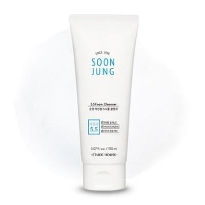 [エチュードハウス] 純正弱酸性5.5フォームクレンザー ETUDE HOUSE Soon Jung weak acid 5.5 foam cleanser 150ml SoonJung