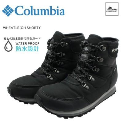 Columbia コロンビア レディース ウィートレイ ショーティ 防水 スニーカー ウィンターシューズ ブーツ BL0842 010 ブラック