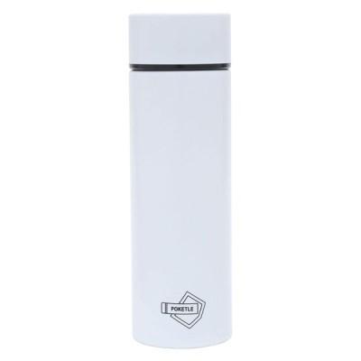 POKETLE ポケトル ボトル ステンレス製マグボトル ミニボトル スリムボトル 水筒 120mL (ホワイト