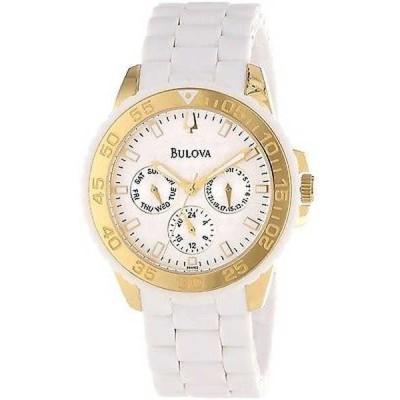 腕時計 ブローバ Bulova ホワイト ラバー & スチール レディース 腕時計 98N102