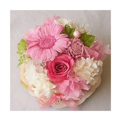 プリザーブドフラワー/おまかせプリザーブドフラワーケーキ(ピンク&白系)