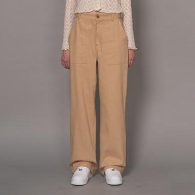 VANILLAMILK レディース パンツ Buckled square wide trousers