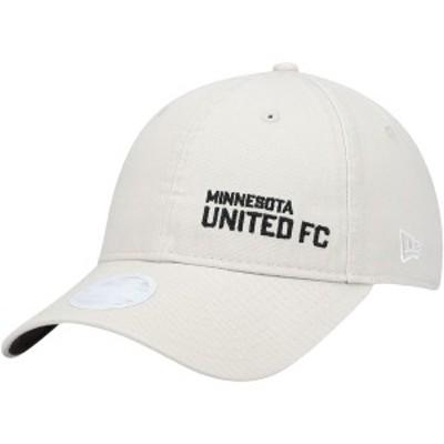 ニューエラ レディース 帽子 アクセサリー Minnesota United FC New Era Women's Stone 9TWENTY Adjustable Hat Cream