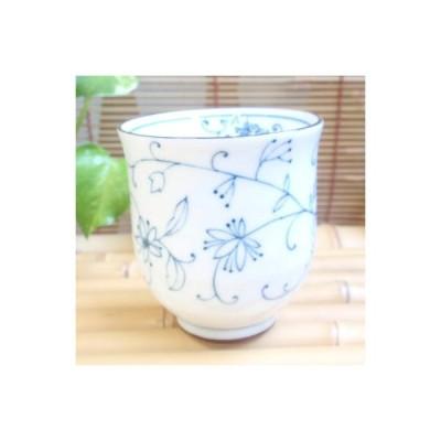 和食器 線唐草 長湯のみ(青)軽量食器 湯呑み 日本製 美濃焼〔お取り寄せ商品〕