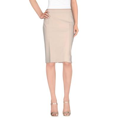 L.P. di L. PUCCI ひざ丈スカート ベージュ 44 ポリエステル 95% / ポリウレタン 5% ひざ丈スカート