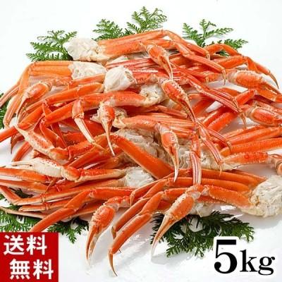 (送料無料) ズワイガニ かに足 5kg ボイル冷凍 わけありのずわいがに脚が食べ放題!ずわい蟹のボイル脚/松葉蟹
