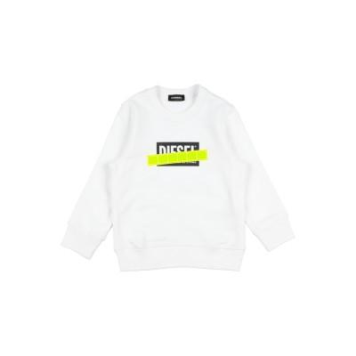 ディーゼル DIESEL スウェットシャツ ホワイト 10 コットン 100% スウェットシャツ