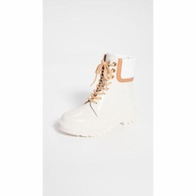 クロエ See by Chloe レディース ブーツ レースアップブーツ シューズ・靴 Florrie Lace Up Rain Boots Natural