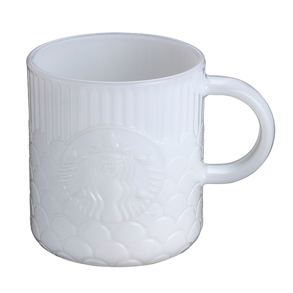 星巴克白玉女神鱗片玻璃杯