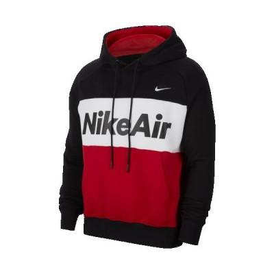(取寄)ナイキ メンズ エア フリース フーディ Nike Men's Air Fleece Hoodie Black White University Red White