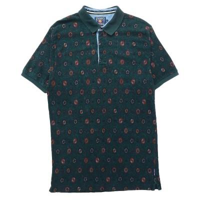 【25%off】古着 チャップス ラルフローレン CHAPS RALPH LAUREN ポロシャツ 総柄 グリーン サイズ表記:XL