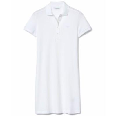 ラコステ レディース ワンピース トップス Slim-Fit Stretch Piqué Polo Dress White