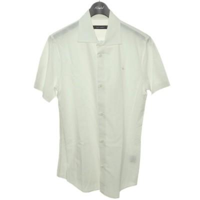 1piu1uguale3 ワンポイント刺繍半袖シャツ ホワイト サイズ:6 (渋谷店) 201110