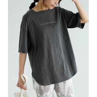tシャツ Tシャツ ラウンドヘムロゴTシャツ