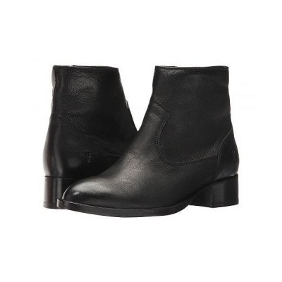 Frye フライ レディース 女性用 シューズ 靴 ブーツ アンクル ショートブーツ Brooke Short Inside Zip - Black