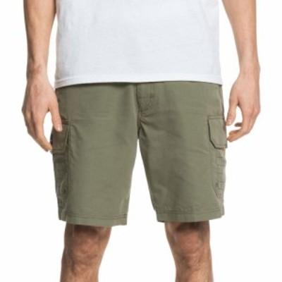クイックシルバー Quiksilver メンズ ショートパンツ カーゴ ボトムス・パンツ Waterman Maldive 9 Cargo Shorts Deep Lichen Green