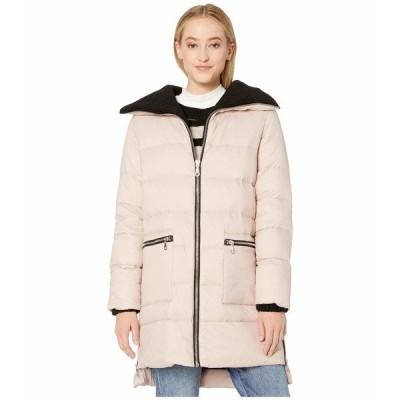 ビービーダコタ コート アウター レディース Cold Snap Down Filled Knit Collar Puffer Coat Parchment