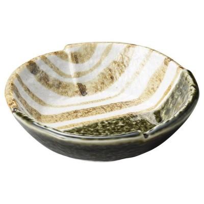 和食 刺身鉢 / 織部ストライプ5.0刺身鉢 寸法: 15 x 3.8cm 356g