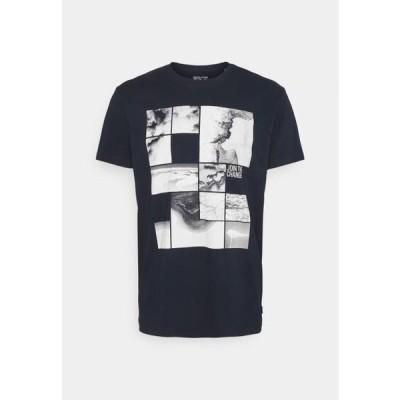 エスプリ メンズ ファッション Print T-shirt - navy