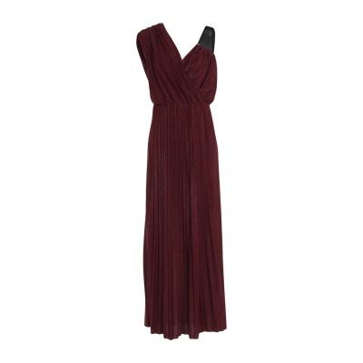 MANGANO ロングワンピース&ドレス ディープパープル M ポリエステル 95% / ポリウレタン 5% ロングワンピース&ドレス