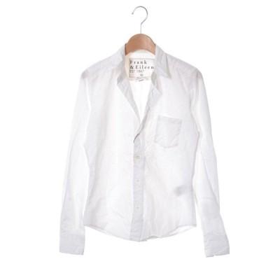 Frank&Eileen BARRY コットン オープンカラー シャツ XXS ホワイト フランクアンドアイリーン