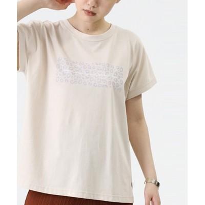 ラウンドプリントTシャツ