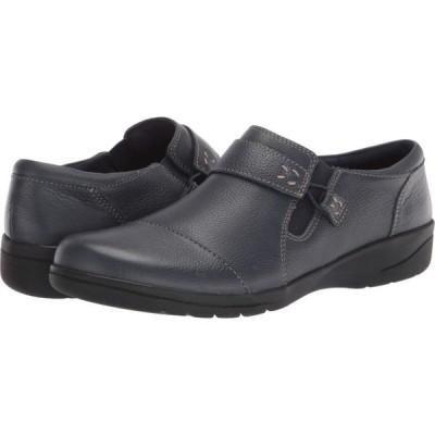 クラークス Clarks レディース ローファー・オックスフォード シューズ・靴 Cheyn Onyx Navy Tumbled Leather