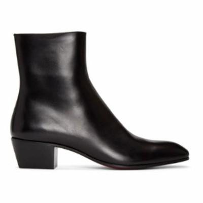 クリスチャン ルブタン Christian Louboutin メンズ ブーツ シューズ・靴 Black Jolly Zip Up Boots Black