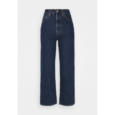 リーバイス レディース デニムパンツ ボトムス RIBCAGE STRAIGHT ANKLE - Straight leg jeans - noe dark mineral noe dark mineral