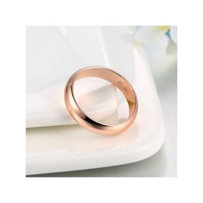 指輪 umode シンプル ローズゴールドリング 18kメッキ|18.0mm