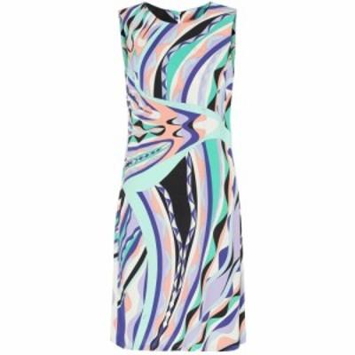 エミリオ プッチ Emilio Pucci レディース ワンピース ワンピース・ドレス Printed silk-blend shift dress Smeraldo/Viola