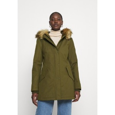 マルコポーロ レディース ジャケット&ブルゾン アウター THERMORE SHAPED FIX HOOD FRONT ZIP - Light jacket - natural olive natural