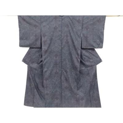 宗sou 更紗模様織り出し本場泥大島紬着物(5マルキ)【リサイクル】【着】