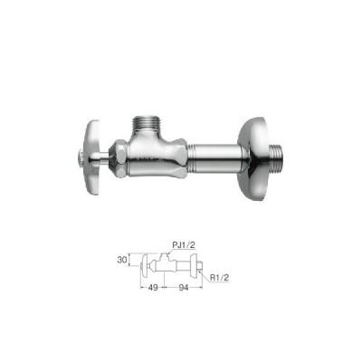 水栓金具 三栄水栓 JV22A-X2A-13 ストレート形止水栓・バルブ 止水栓本体 [□]
