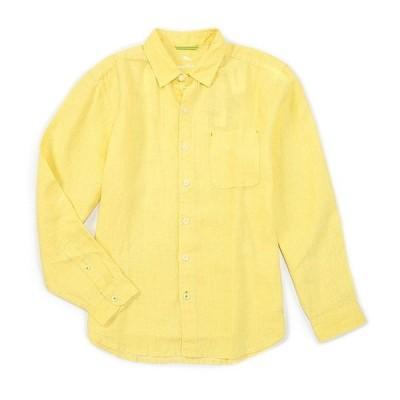 トッミーバハマ メンズ シャツ トップス Sea Glass Breezer Long-Sleeve Solid Woven Linen Shirt Raw Papyrus