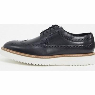 クラークス Clarks メンズ 革靴・ビジネスシューズ メダリオン シューズ・靴 ernest brogues in black nubuck ブラック