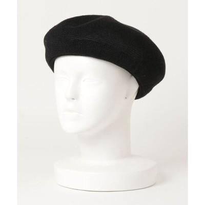 帽子 【Basiquenti】Linen Thermo Beret BCA-Y90391