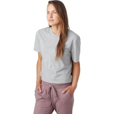 レイニングチャンプ Reigning Champ レディース Tシャツ トップス Box Fit Pima Jersey T - Shirt Heather Grey