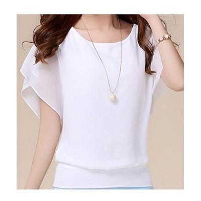 (maison de LATIR/メゾンドラティール)ゆらり袖が印象的なフェミニンレディースtシャツ/レディース ホワイト