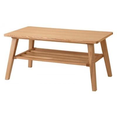 ナチュラル ミルカ ローテーブルのみ 天然木北欧スタイル ソファダイニング  Milka
