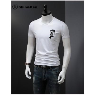 Tシャツ メンズ 半袖Tシャツ カットソー トップス おしゃれ クルーネック 大きいサイズ ファッション jcmt19030