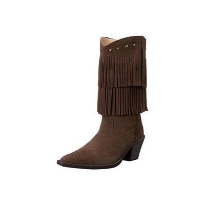 海外セレクション ブーツ 靴 Roper 2951 レディース ショート Stuff ブラウン Mid-Calf Cowboy, Western ブーツ シューズ 9 BHFO
