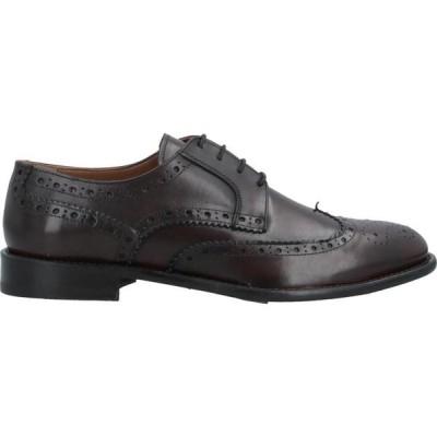 アンジェロ パロッタ ANGELO PALLOTTA メンズ 革靴・ビジネスシューズ シューズ・靴 Laced Shoes Dark brown